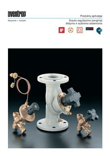 Prospektas apie balansinius ventilius - Produktai