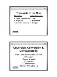 Traditional Logic I Chapter IX - Memoria Press