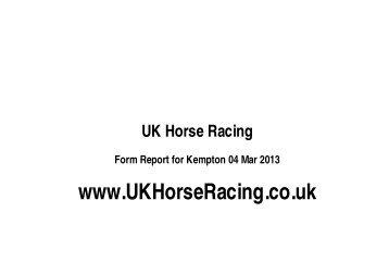 Kempton - UK Horse Racing