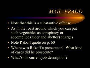 Mail Fraud (PDF version) - LFIP