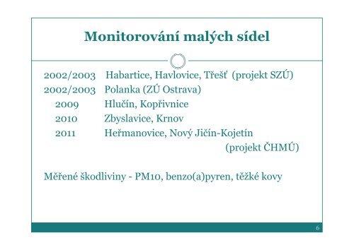 Lokální topeniště versus ovzduší a zdraví - Krajská hygienická ...