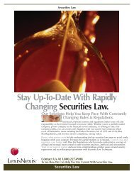 Securities Law - Corporate Counsel - LexisNexis