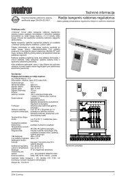 Radiobanginis grindų reguliavimas - IdejaSildymui.lt