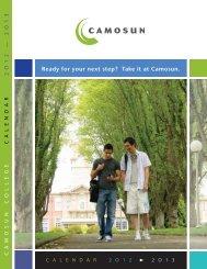 2012-2013 Program Calendar - Camosun College