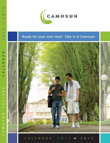 2012-2013 Program Calendar - Camosun College
