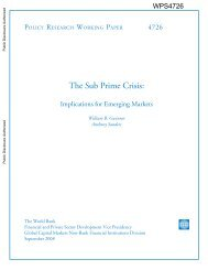 The Sub Prime Crisis: Implications for Emerging Markets