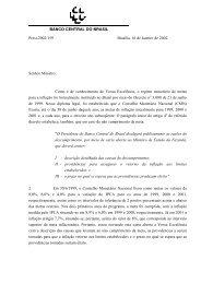 Metas para Inflação - Carta Aberta - Banco Central do Brasil