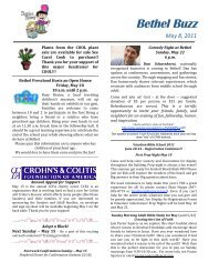 Bethel Buzz May 8 2011.pdf - Bethel Lutheran Church