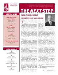The Next Step Newsletter - Summer 2008 - United Synagogue of ...