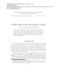 Applicable Analysis and Discrete Mathematics HARARY INDEX OF ...
