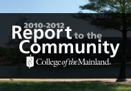Community - College of the Mainland