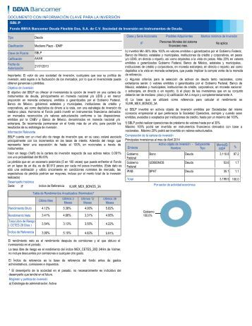 documento con información clave para la inversión - Bancomer.com