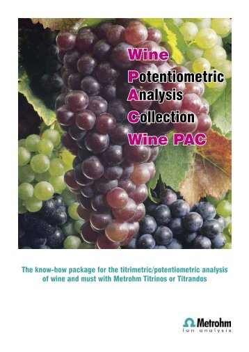 Metrohm WinePac - MEP Instruments