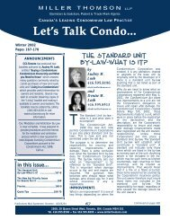 The Standard Unit by-law - Miller Thomson