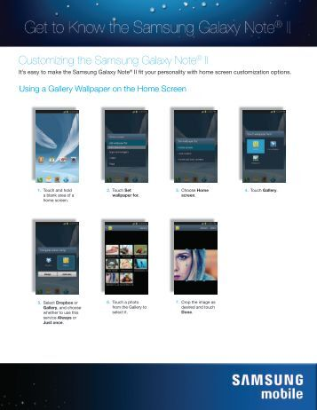 Customizing the Samsung Galaxy Note® II - US Cellular