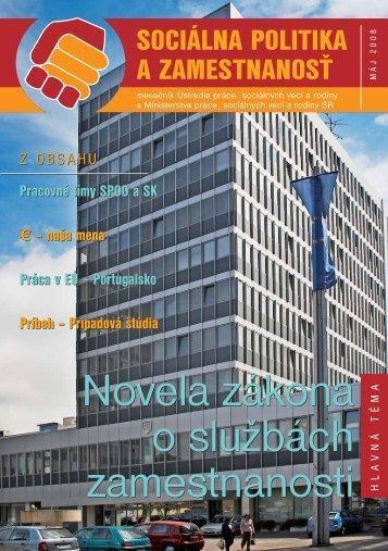 Máj 2008 - Ústredie práce, sociálnych vecí a rodiny