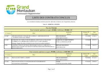 TABLEAU DES MARCHES CONCLUS ET ... - Montauban.com