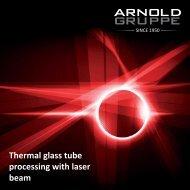 Laserprocessing - Arnold Gruppe
