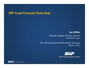 SRP Load Forecast Overview - Salt River Project