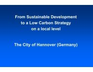 From Sustainable Development to a Low Carbon Strategy on ... - UDIA