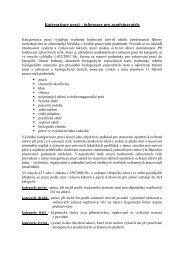 Kategorizace prací – informace pro zaměstnavatele