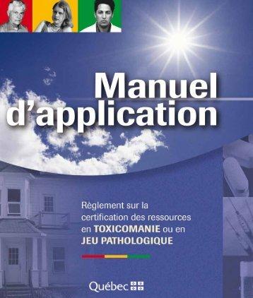 Manuel d'application - Gouvernement du Québec