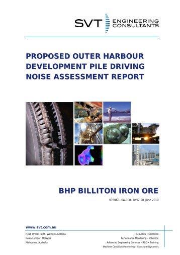 Appendix B8 Piling Noise Assessment - BHP Billiton