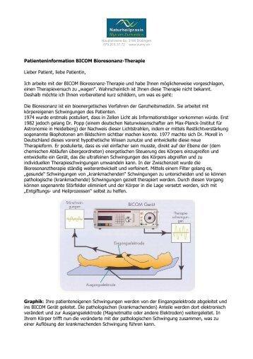 Patienteninformation Bioresonanztherapie - Naturheilpraxis Myriam ...