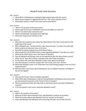 macbeth study questions answers pdf english rh yumpu com macbeth study guide answers act 4 scene 1 macbeth study guide answers quizlet
