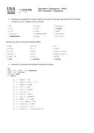 Lista de exercícios para P2 - GTA