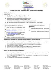 1314 Direct Loan Request - West Georgia Technical College