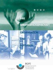 ihre berufsgenossenschaft organisation und ... - M/S VisuCom GmbH