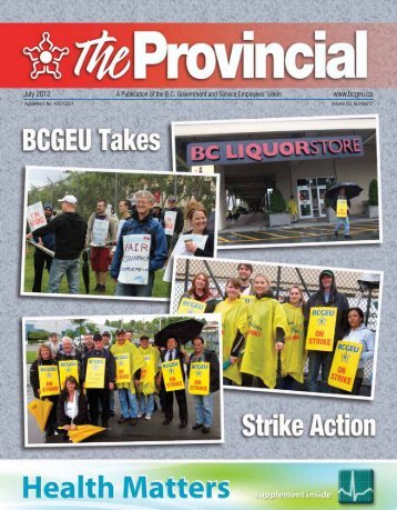 Provincial - July 2012 - BC Government and Service Employees ...