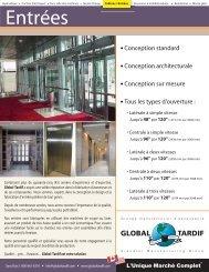 Entrées - Global Tardif Groupe manufacturier d'ascenseurs