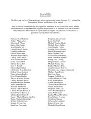 NOTE: Not all examinees listed are eligible for admission. A