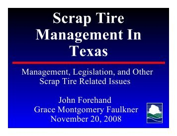 Scrap Tire Management In Texas