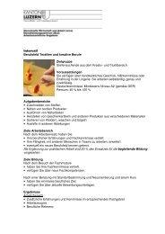 Intervall Berufsfeld Textilien und kreative Berufe Zielgruppe ... - wira