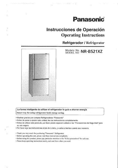 MANUAL DE USUARIO NR-B521XZ-S5(es) - Panasonic