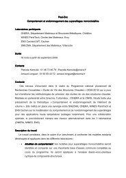 • Modèles de comportement - Le Centre des Matériaux - MINES ...