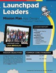 Mission Plan App Design: - Launchpad Toys