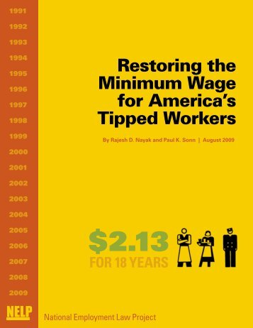 Restoring the Minimum Wage for America's Tipped Workers