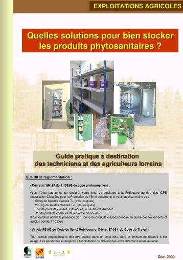 Quelles solutions pour bien stocker les produits phytosanitaires ?