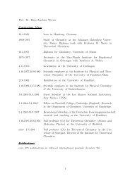 Curriculum vitae (PDF file) - Institut für Theoretische Chemie