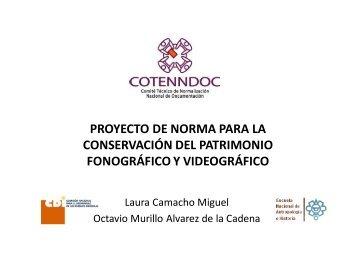 proyecto de norma para la conservación del patrimonio fonográfico ...
