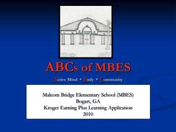 ABCs of MBES - Oconee County Schools