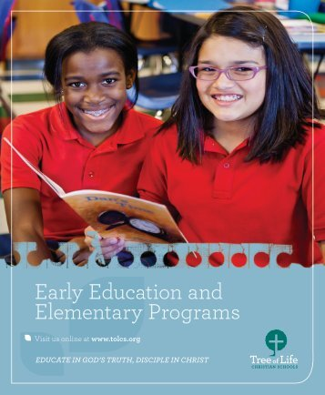 Early Education and Elementary Programs - Tree of Life Christian ...