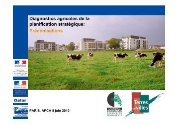 Diagnostics agricoles de la planification stratégique - Terres en Villes