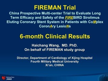 FIREMAN Trial 6-month Clinical Results - Citmd.com