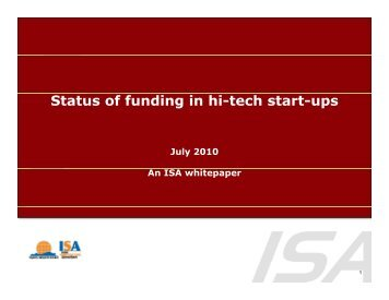Status of funding in hi-tech start-ups - india electronics ...