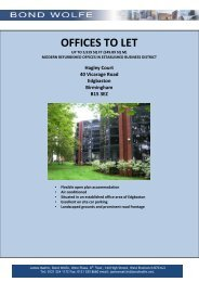 OFFICES TO LET - Bond Wolfe
